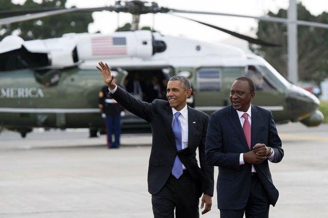 Barrack Obama na Uhuru Kenyatta