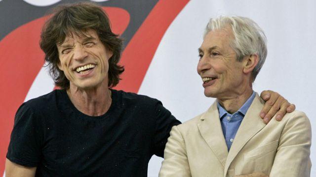 Mick Jagger y Charlie Watts en 2005