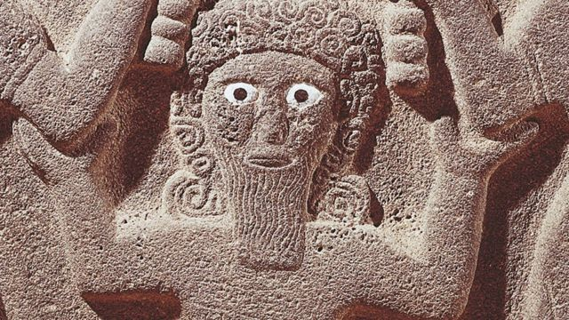 Detalle de tableta decorativa mostrando a Gilgamesh, de la civilización asiria, siglo IX a.C.