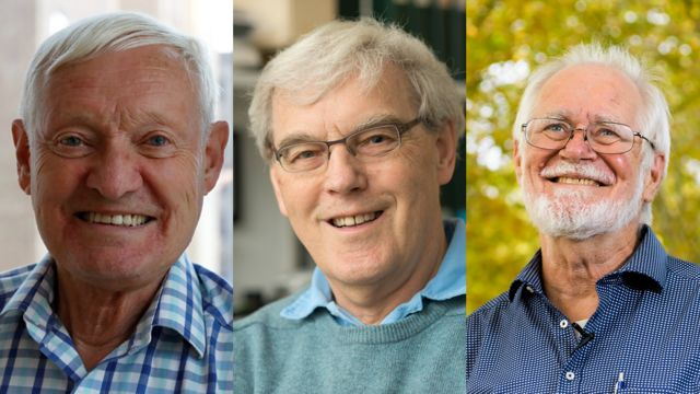 Joachim Frank, Richard Henderson y Jacques Dubochet.