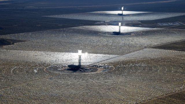 La planta termosolar Sistema de Generación Eléctrica Solar Ivanpah