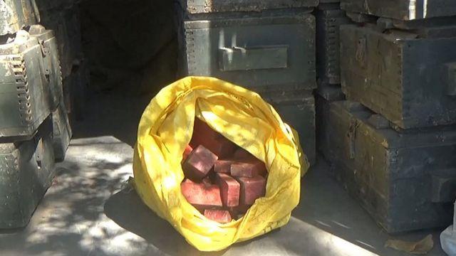 ящики с тротилом в Донбассе
