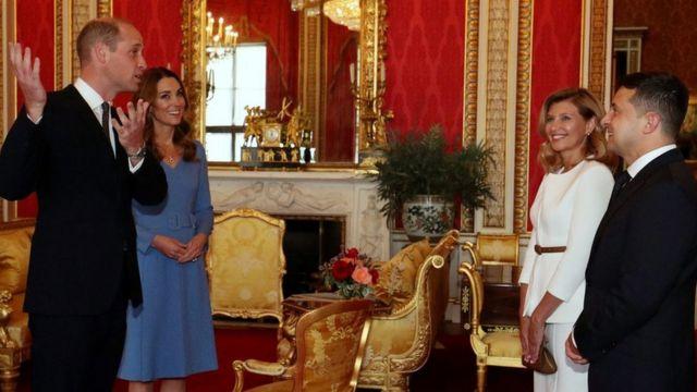 Герцоги и герцогиня Кембриджские с президентом и первой леди Украины