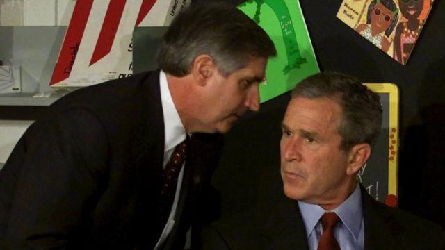 Президент Буш и Эндрю Кард