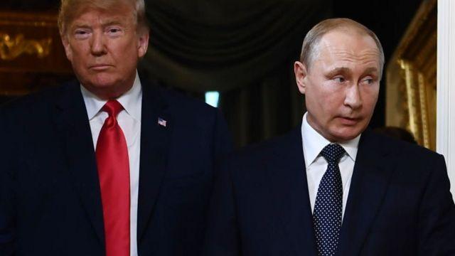 Donald Trump na Vladimir Putin
