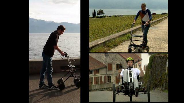 男性3人は今のところ、機器の助けを借りて歩行している