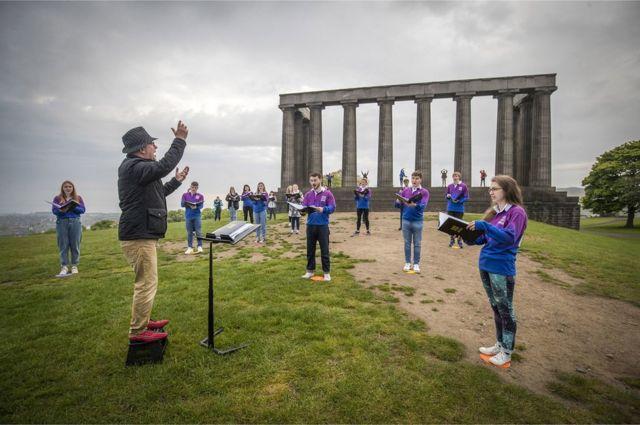 İskoçya gençler korosu