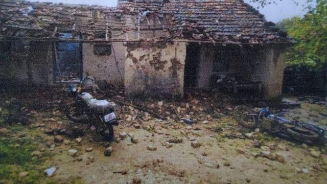 સરવૈયા પરિવારનું ઘર જેને સળગાવી નાખ્યું હતું.