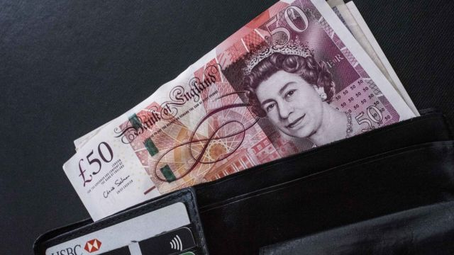 £50 notes in a wallet