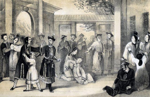 'Chineses vendidos como escravos pelos tártaros, após sua conquista' (1847)