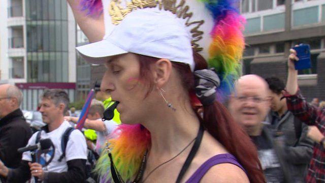 Pride Glasgow drummer