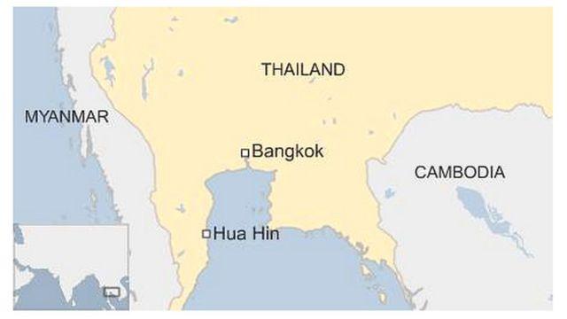 ホアヒン(Hua Hin)の位置