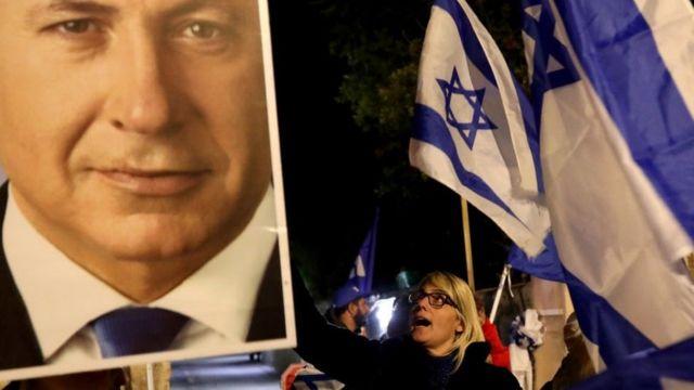Manifestación pro-Netanyahu, Jerusalén (noviembre de 2019)