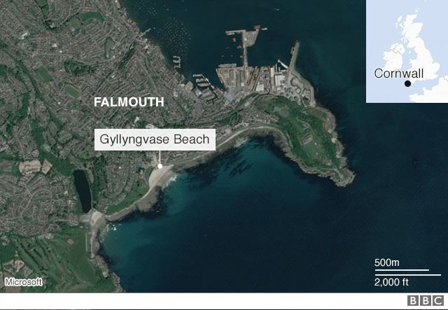 A map of Falmouth
