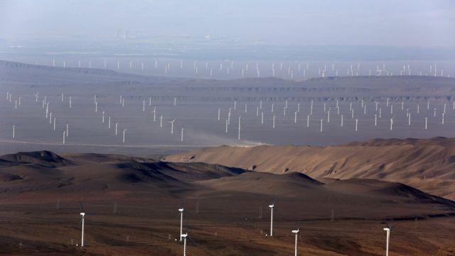 Parque eólico China