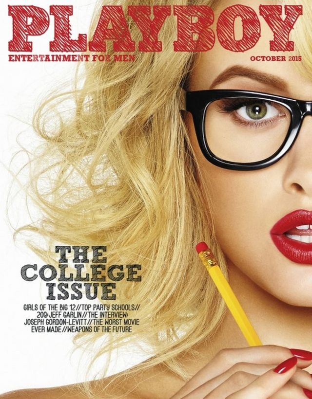 October 2015 college issue of Playboy