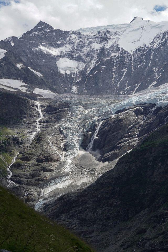 вид на льодовик і долину