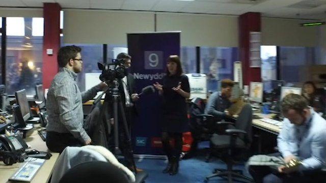 BBC Wales mannequin challenge