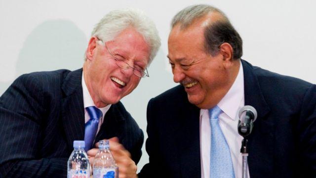 Bill Clinton y Carlos Slim.