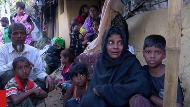 रोहिंग्या मुसलमानों के दर्द बयां करती तस्वीरें