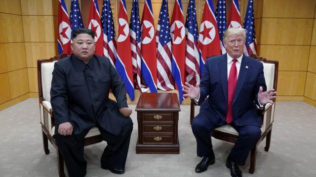 미국 도널드 트럼프 대통령과 북한 김정은 국무위원장