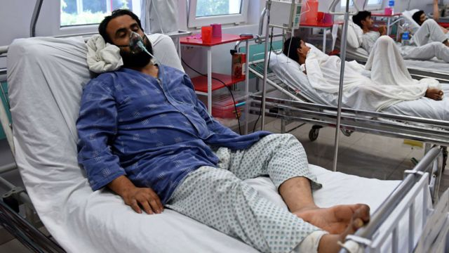 A survivor of the bombing recovers in the MSF hospital