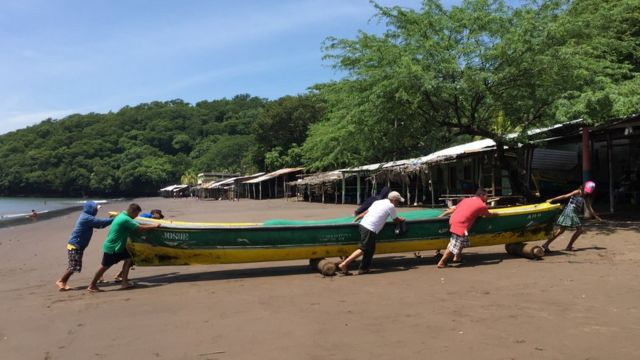 Pescadores en Amapala.