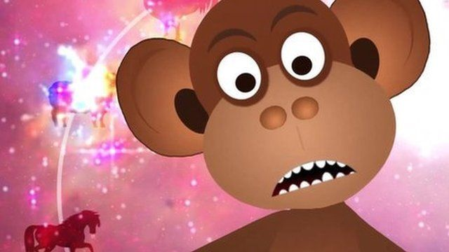 Animation of a monkey