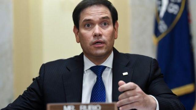 Marco Rubio fala em comit@e do Senado