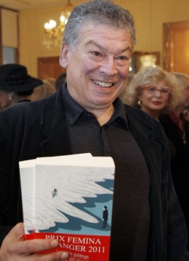 Francisco Goldman en una entrega de premios por su obra