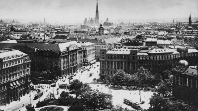 Rooftops of Vienna about 1920