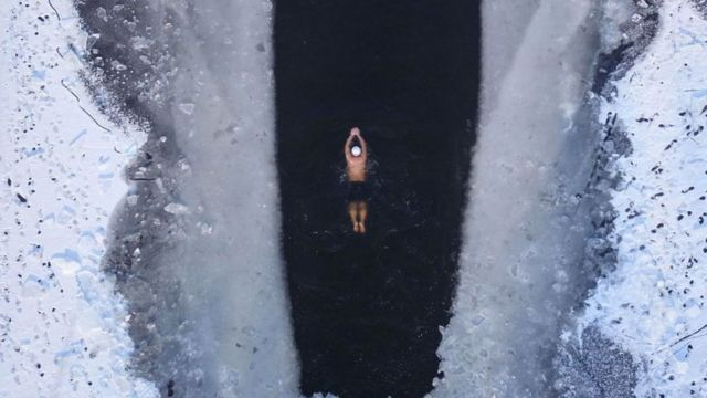 ٹھنڈا یخ پانی