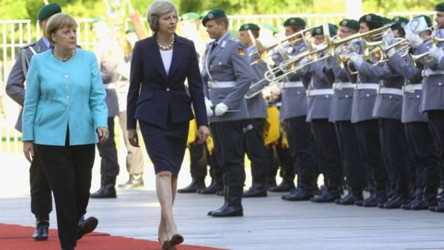 Theresa May et Angela Merkel à Berlin
