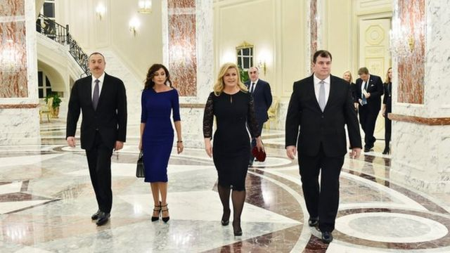 Ilham Əliyev, Mehriban Əliyeva, Kolinda Qrabar-Kitaroviç, Yakov Kitaroviç