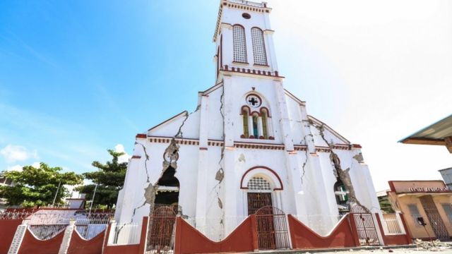 Iglesia del Sagrado Corazón en Les Cayes.