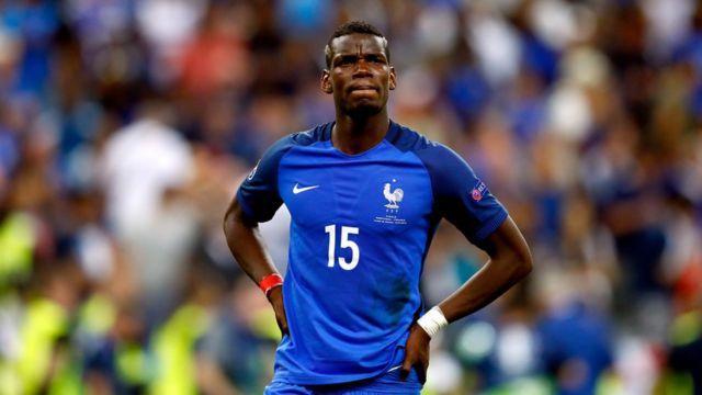 Paul Pogba in France jersey