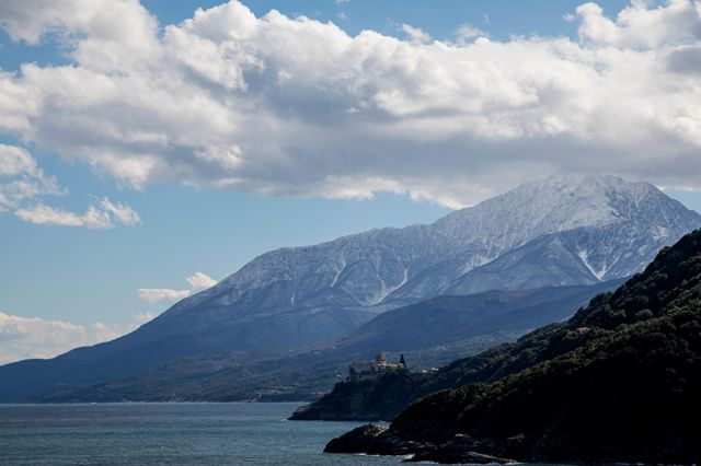 Mount Athos on March 02, 2018 in Mount Athos, Greece. (Photo by Athanasios Gioumpasis/Getty Images