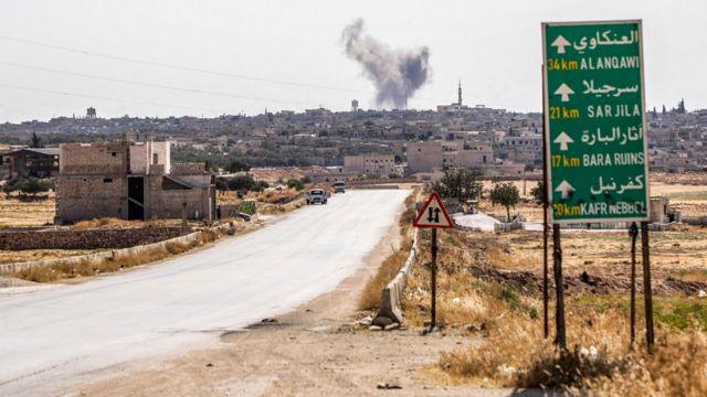 İdlib'deki Suriye bombardımanı