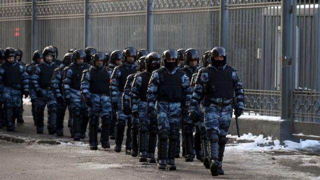 Полиция у Мосгорсуда