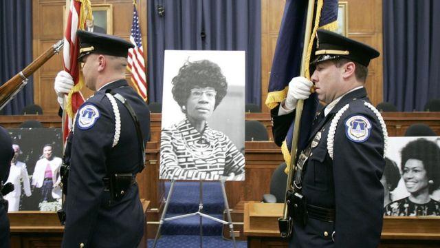 Ceremonia en el Congreso en honor a Shirley Chisholm.