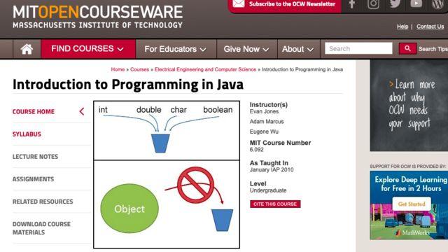 Reprodução do site do MIT