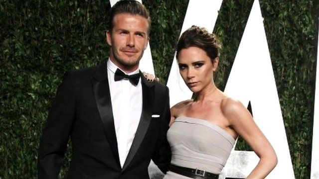 David and Victoria Beckham in 2012