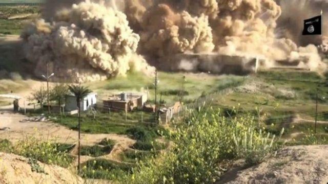 داعش تصاویری از تخریب مکانهای باستانی در عراق را منتشر کرده است