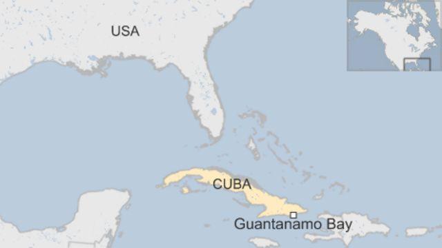 収容施設はキューバ南東部にあるグアンタナモ(Guantanamo)米軍基地内に設置されている