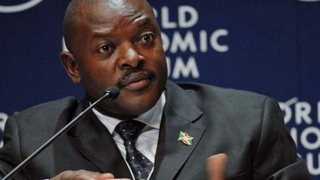 Pierre Nkurunziza, umukuru w'igihugu c'u Burundi