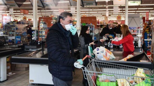 italya'da süpermarket