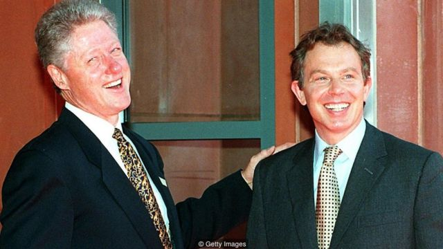 Bill Clinton dan Tony Blair