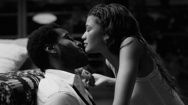 John David Washington and Zendaya in Malcolm & Marie