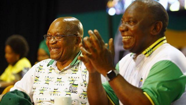 Cyril Ramaphosa (i buryo) niwe ashobora gusubirira Prezida Zuma igihe yoba atanze imihoho