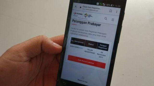 Setelah memasukkan data berupa nomor KTP dan Kartu Keluarga, nomor SIM telepon dianggap sudah teregistrasi dalam data pemerintah.